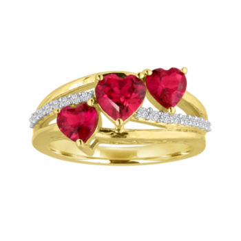 Rings Diamond Ruby Rose Gold & Sapphire Rings