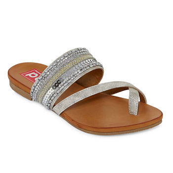 8caab2b74e10 CLEARANCE Flat Sandals Women s Sandals   Flip Flops for Shoes - JCPenney