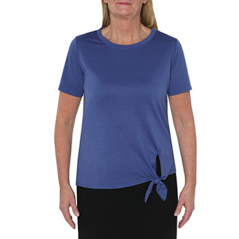 St. John's Bay Active Petite Womens Crew Neck Short Sleeve T-Shirt