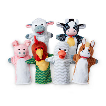 Melissa & Doug Barn Buddies Hand Puppets (6 Pc)