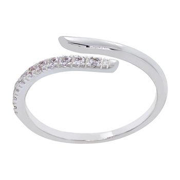 Sparkle Allure Cubic Zirconia Pure Silver Over Brass Infinity Band