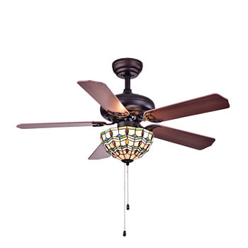 Ceiling fans doretta tiffany style bowl 3 light 42 inch ceiling fan aloadofball Image collections