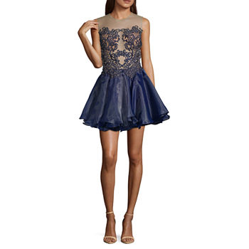Glamour By Terani Couture Sleeveless Party Dress-Juniors