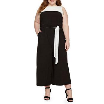 fd7d4f19d3a Plus Size Black Jumpsuits   Rompers for Women - JCPenney