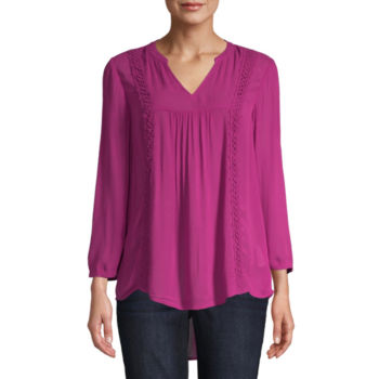 Misses Size Crepe Tops For Women Jcpenney