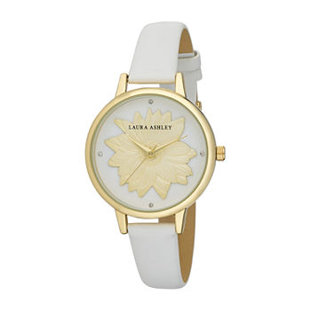 Laura Ashley Womens Gold Tone Strap Watch-La31097yg