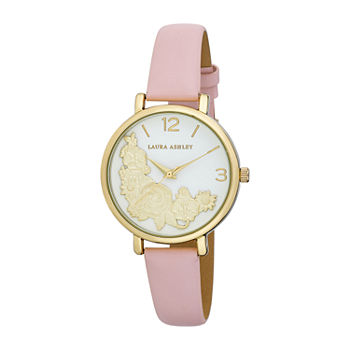 Laura Ashley Womens Gold Tone Strap Watch-La31099yg