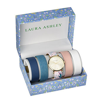 Laura Ashley Womens Gold Tone Bracelet Watch - Lass1102yg