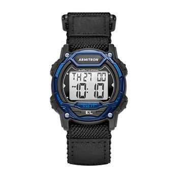 Armitron Pro Sport Mens Chronograph Black Strap Watch-45/7004blu