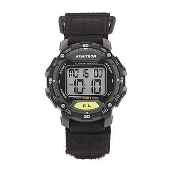 Armitron Pro Sport Mens Chronograph Black Strap Watch-40/8291blk