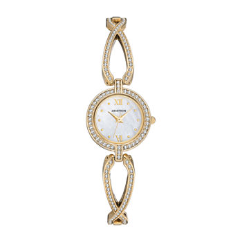 Armitron Womens Crystal Accent Gold Tone Bracelet Watch - 75/5536mpgp
