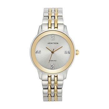 Armitron Womens Crystal Accent Two Tone Bracelet Watch - 75/5538svtt