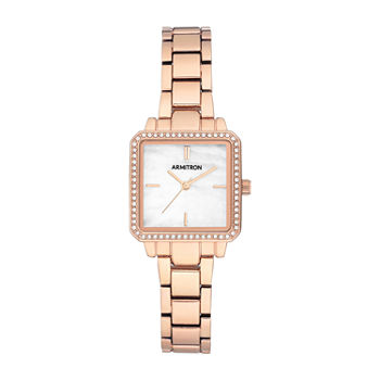 Armitron Womens Crystal Accent Rose Goldtone Bracelet Watch - 75/5589mprg