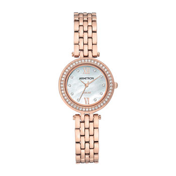Armitron Womens Crystal Accent Rose Goldtone Bracelet Watch - 75/5623mprg
