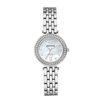 Armitron Womens Crystal Accent Silver Tone Bracelet Watch - 75/5623mpsv