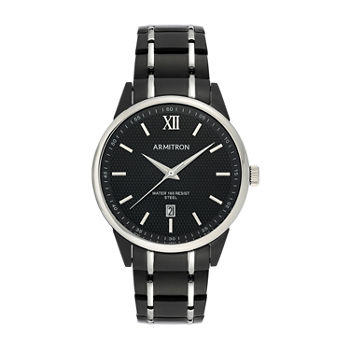 Armitron Mens Black Stainless Steel Bracelet Watch - 20/5388bktb