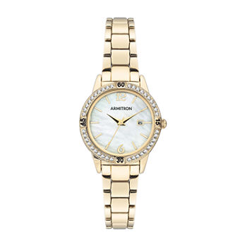 Armitron Womens Crystal Accent Gold Tone Bracelet Watch - 75/5658mpgp