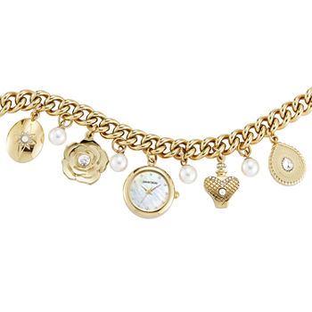 Armitron Womens Crystal Accent Gold Tone Bracelet Watch - 75/5684mpgp