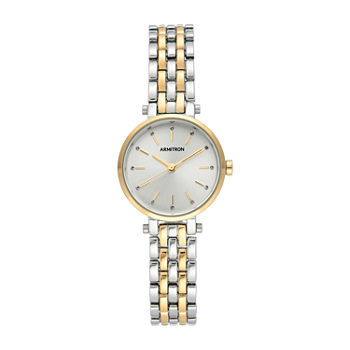 Armitron Womens Crystal Accent Two Tone Bracelet Watch - 75/5704svtt