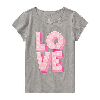 City Streets Girls Crew Neck Short Sleeve Graphic T-Shirt - Preschool / Big  Kid