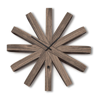 Umbra Ribbonwood 20.25in Wall Clock
