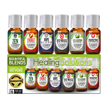 Healing Solutions Bountiful Blends 6 Gift Set Essential Oil