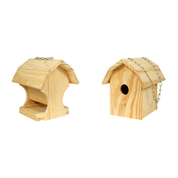 Homewear Diy Combo Bird House And Feeder