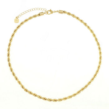 Monet Jewelry Womens Goldtone Twist Chain Collar Neckalce