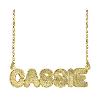 Personalized 14K Gold Over Silver Bold Name Necklace