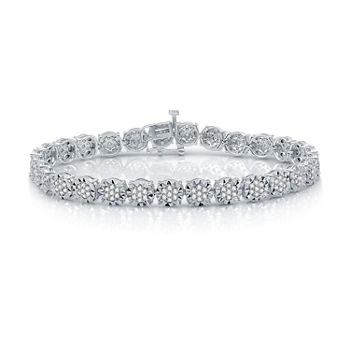 2 CT. T.W. Genuine White Diamond Sterling Silver Tennis Bracelet