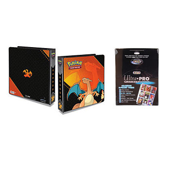 "Pokemon Charizard 2"" 3-Ring Binder Cardalbum With 100 Ultra Pro Platinum 9-Pocket Sheets"""