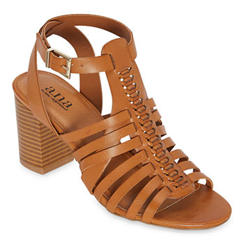 a.n.a Womens Slithery Heeled Sandals