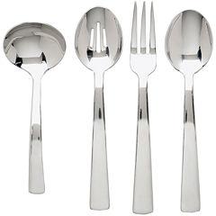 Ginkgo® Burton 4-pc. 18/10 Stainless Steel Hostess Set