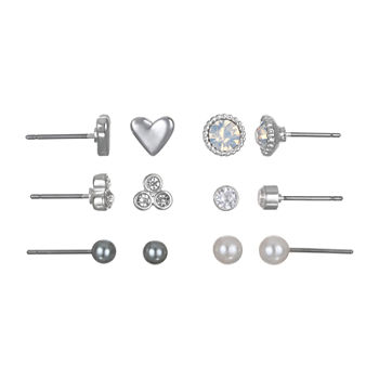 Bijoux Bar 6 Pair Heart Earring Set