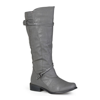 0c1d5e5a08a Journee Collection Harley Extra Wide Calf Riding Boots