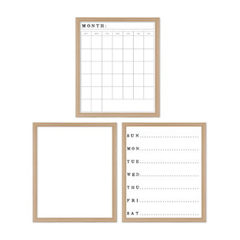 Natural Dry-Erase Board Set