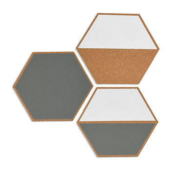 Hexagon Cork Board Set