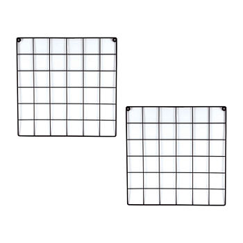 Black Metal Wall Grid Bulletin Board