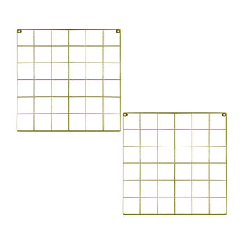 Gold Metal Wall Grid Bulletin Board