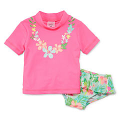 Carter's® 2-pc. Floral Rash Guard Set - Girls 2t-4t