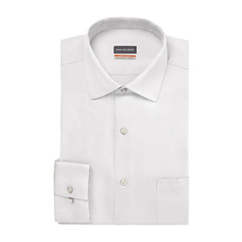 Van Heusen Mens Stain Shield Wrinkle Free Stretch Dress Shirt