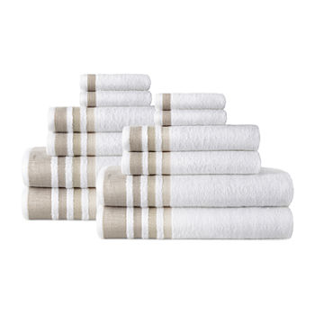 Home Expressions 12-pc. Stripes Bath Towel Set
