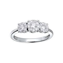 Brilliant Dream™ 1/2 CT. T.W. Diamond 3-Stone Engagement Ring