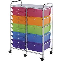 15-Drawer Double Storage Cart