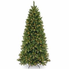 National Tree Co. 7 1/2 Foot Lehigh Valley Pine Hinged Pre-Lit Christmas Tree
