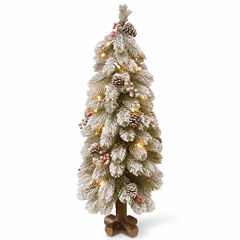 National Tree Co. 2 Foot Snowy Bayberry Spruce Pre-Lit Christmas Tree