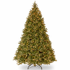 National Tree Co. 10 Foot Downswept Douglas Fir Hinged Pre-Lit Christmas Tree