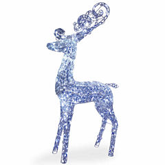 National Tree Co. Standing Reindeer Holiday Yard Art