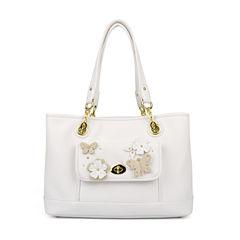Liz Claiborne Debbie Applique Shopper Shoulder Bag