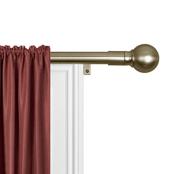 Antique Brass Curtain Rods Hardware For Window